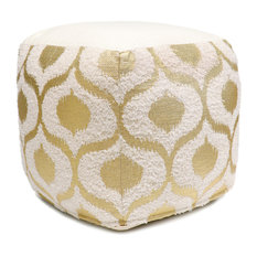 Pasargad Grand Canyon Gold Foiled Cotton Pouf