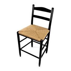 Penrose Wood Ladderback Counter Stool 1224W Black