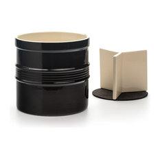 RSVP Oversized Black Stoneware Tool Crock