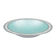 """Classic 15"""" Round Bowl, Aqua"""