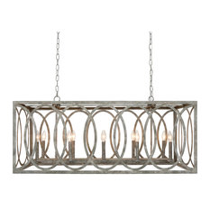 Chatrie Large Rectangular Gray Chandelier, 45""