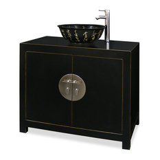Elmwood Ming Vanity Cabinet, With Bowl and Faucet