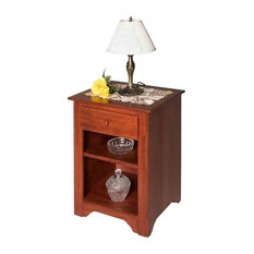 End Tables Bedroom Cherry Stain Birch Shaker End Table Living Room
