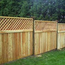 Lattice-Topped Fences - Cedar