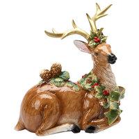 Reindeer Pinecone Figurine