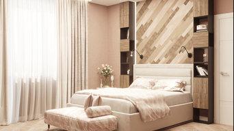 Дизайн интерьера квартиры в пудровых оттенках