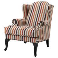 "Orange Chair, Eichholtz Frank Sinatra, Black, 32""x41""x41"""