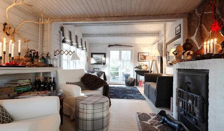 Ein dänisches Sommerhaus wird weihnachtlich