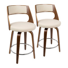 LumiSource Cecina Counter Stool With Swivel, Set of 2