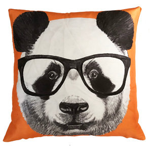 Designart CU13181-16-16 Funny Panda with Sunglasses Animal Cushion Cover for Living Room Sofa Throw Pillow 16 x 16