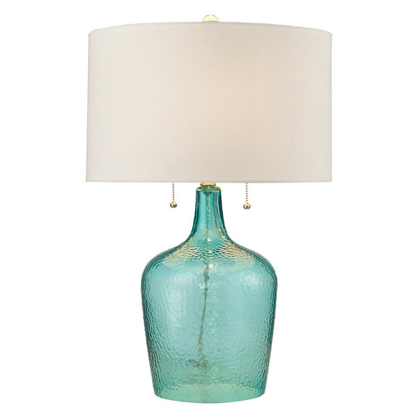 2-Light Table Lamp in Seabreeze Blue