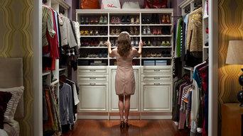 Custom Walk-In Closet Organizers: Antique White