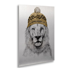 Balazs Solti 'Winter Is Coming' Floating Brushed Aluminum Art