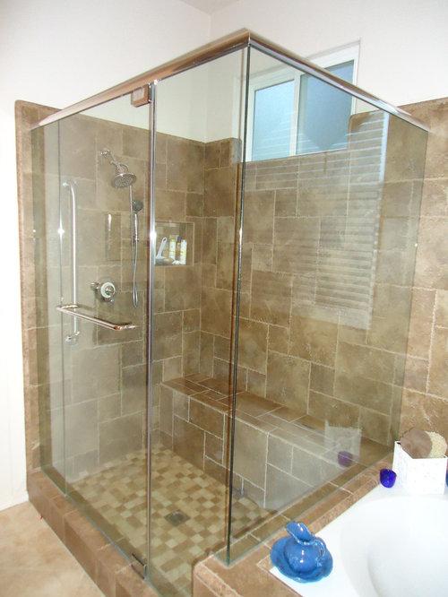 90 degree frameless shower enclosures