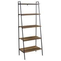 "Offex 72"" Modern Ladder Bookcase, Reclaimed Barnwood"