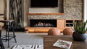Ortal USA 130 Left Side Corner Fireplace