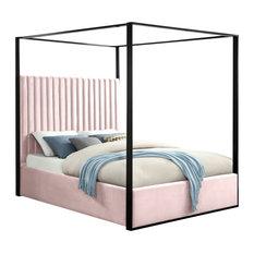 Jax Velvet Bed, Pink, Queen