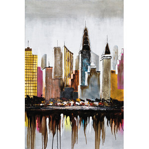 """""""East River"""" Oil Painting, 80x120 cm"""