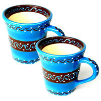 Flared Cups, Azure Blue, Set of 2
