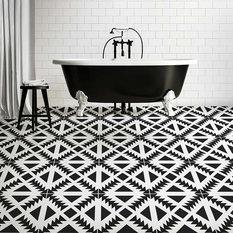 Aztec Tile Stencil - DIY Geometric Tile Stencils - Faux Cement Tiles, Small