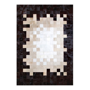 Fade to White Cowhide Rug, 170x240 cm