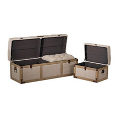 "Sterling Industries Restoration - 48"" Storage Trunk (Set of 3)"