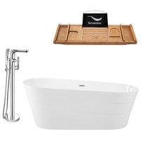 "Streamline Tub Set  67"" Freestanding With H-120-TFMSHCH Faucet"