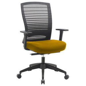 Norton Mesh Office Chair With Bespoke Seat, Yellow