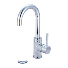 Single Handle Lavatory Faucet, PVD Brushed Nickel, Matte Black