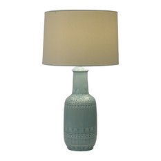 Decor Therapy - Patterned Ceramic Table Lamp - Table Lamps