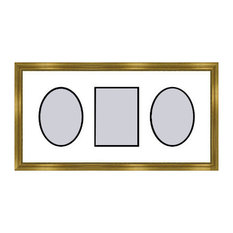 Gold Collage Picture Frame - 3 openings for 4X6 photos
