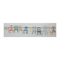 Chair Display, Handpainted Art On Canvas