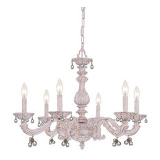 Crystorama Hot Deal, Six Light Chandelier, Clear Murano Crystal