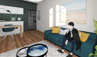 Aménagement d'un appartement et d'un studio adjacent.