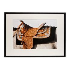 """American Saddle"" Photographic Print by Astrid Harrisson, Black Frame, 85X50 cm"