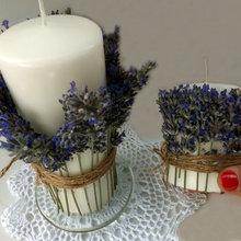Hazlo tú mismo: Aromatiza una composición de velas con lavanda fresca