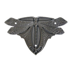 Dragonfly Hinge Plate Antique Copper Sold, Pairs, Antique Pewter