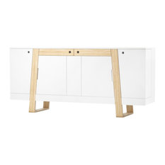 Mag Assembled Large Solid Wood and Lacquered Sideboard