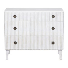 38-inch Wide Chest Dresser Solid Mahogany Wood White Wash Finish 3 Drawers Handmade