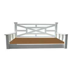 Chippendale Twin Swingbed, Painted-Country Cream, Cypress Wood