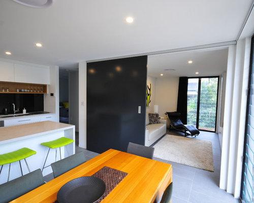 Modern Home Theater Millbrae Interior Design Hide Expanding TV ...