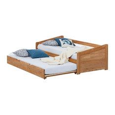 Ars Natura - Massivholz-Funktionsbett DemiWOOD (Mit zusätzlicher Liegefläche) - Kinderbetten
