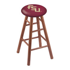 Oak Extra Tall Bar Stool Medium Finish With Florida State Script Seat 36-inch