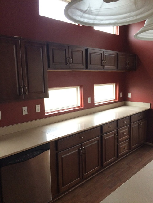 New Kitchen Are These Cherry Cabinets What Color Paint