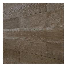 Self-Adhesive Distressed Weathered Rustic REAL Wood Plank-Rustic Pebble-WP-004C