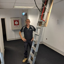 Attic Ladder for safe access in the work place