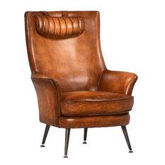 Arm Chair DOVETAIL KLINE Aged Top-Grain Cow
