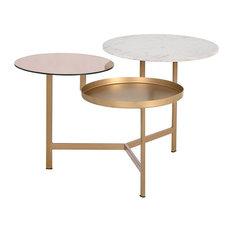 Diesel Coffee Table, Gold/Rose