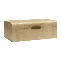Worlds Away Mira Decorative Box, Burl Wood