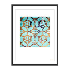 """""""Lost In Another Maze"""" Geometric Art Print, Black Framed, 40x50 cm"""